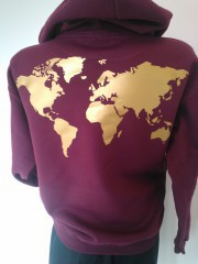 Sweatshirt bordeaux ryg