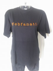 Sort Webfanatic t-shirt